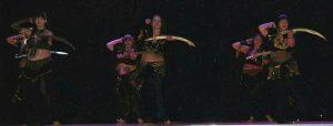 Belly dancing at singing sticks